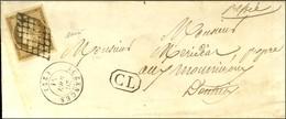 Grille / N° 1 Belles Marges Càd T 15 AUZANCES (22) + CL Encadré Sur Lettre Adressée Localement. 1851. Exceptionnelle Ass - 1849-1850 Cérès