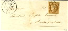 PC 500 / N° 1 Superbes Marges Càd T 13 BRAISNE (2) Sur Lettre Avec Texte Adressée Localement. - SUP. - R. - 1849-1850 Cérès