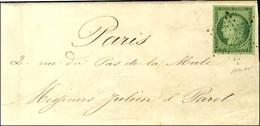 Etoile / N° 2 Belles Marges Sur Lettre De Paris Pour Paris. Au Verso, Càd D'arrivée 4 PARIS 4 (60) 10 FEVR. 52. - SUP. - - 1849-1850 Ceres