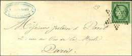 Etoile / N° 2 Belles Marges Sur Lettre Avec Texte Adressé De Paris Pour Paris. Au Verso, Càd D'arrivée 20 MAI 53. - SUP. - 1849-1850 Ceres