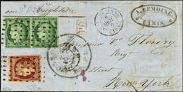 Rouleau De Gros Points / N° 2 Vert Foncé, Paire, Belles Marges + N° 6 Très Belles Marges Càd (DS) PARIS (DS) / 60 9 JUIN - 1849-1850 Ceres