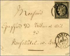Càd T 15 NANCY (52) 3 JANV. 49 / N° 3 Belles Marges Sur Lettre (légèrement Restaurée) Pour Neufchâtel En Braye. - TB / S - 1849-1850 Cérès