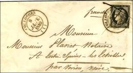 Plume + Càd T 14 COLLONGES (1) 9 JANV. 1849 / N° 3 Filet Inférieur Droit Effleuré Sur Lettre Pour Les Echelles. Exceptio - 1849-1850 Cérès