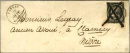 Plume + Càd T 15 TANNAY (56) 17 JANV. 49 / N° 3 (infime Def) Sur Lettre Pour Clamecy. - TB / SUP. - R. - 1849-1850 Cérès