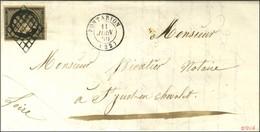 Grille / N° 3 Càd T 15 PONTARION (22). 1850. - SUP. - R. - 1849-1850 Ceres