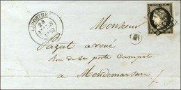 Grille / N° 3 Noir Intense Sur Blanc Càd T 14 LIPOSTHEY (39). 1850. - TB / SUP. - 1849-1850 Cérès