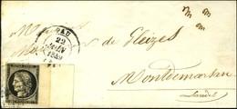 Grille / N° 3 Bdf Intégral Avec Fond De Sûreté Càd T 14 PAU (64) Sur Lettre Pour Mont De Marsan. 1849. - TB / SUP. - R. - 1849-1850 Ceres
