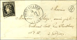 Grille / N° 3 Noir Intense Sur Blanc Càd T 13 PONTAILLIER (20). 1849. - TB / SUP. - 1849-1850 Cérès