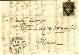 Grille / N° 3 Càd T 12 PONTRIEUX (21). 1849. - SUP. - R. - 1849-1850 Ceres
