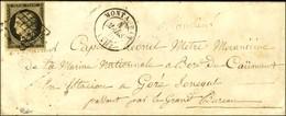 Grille / N° 3 Càd T 15 MONTAUBAN Sur Lettre Adressée à Un Militaire '' De La Marine Nationale à Bord Du Caïmant En Stati - 1849-1850 Cérès
