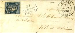 Grille / N° 4 Càd T 14 DERVAL (42) Cursive 34 / Le Grand / Fougeray. 1850. - TB / SUP. - 1849-1850 Cérès