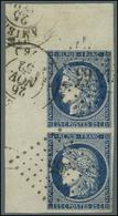 PC / N° 4 Bleu Foncé Paire Verticale Grand Cdf. 1852. - SUP. - R. - 1849-1850 Cérès