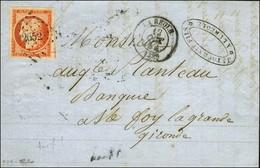 PC 2652 / N° 5 Orange Vif Très Belles Marges Càd T 15 LA REOLE (32) 12 OCT. 54 Sur Lettre 2 Ports Pour Ste Foy La Grande - 1849-1850 Ceres
