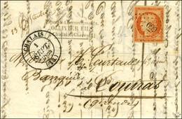PC 699 / N° 5 Belles Marges Càd T 14 CHALAIS (15) 1 SEPT. 1854 Sur Lettre 2 Ports Pour La France Après Le Changement De  - 1849-1850 Cérès