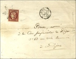 Etoile / N° 6 Très Belle Nuance Carmin Vif Proche Du Cerise Càd PARIS (60) Sur Lettre 3 Ports Pour Dijon. 1853. - TB / S - 1849-1850 Cérès