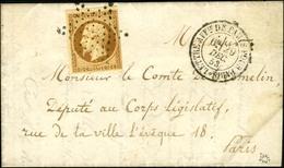 Etoile / N° 9 Càd LETTRE AFFie DE PARIS POUR PARIS Sur Lettre Avec Texte Adressée Localement. - SUP. - R. - 1852 Louis-Napoléon