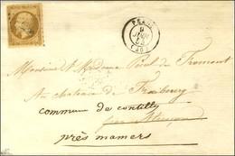 PC 2428 / N° 9 Càd T 15 PEZOU (40). 1854. - TB / SUP. - R. - 1852 Luigi-Napoleone