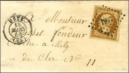 PC 1977 / N° 9 Belles Marges Càd T 15 METZ (55) Sur Lettre Petit Format Adressée Localement. 1854. - TB / SUP. - R. - 1852 Luigi-Napoleone