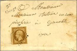 PC 3446 / N° 9 Cursive 37 / Uriage Sur Lettre Locale Pour Grenoble. Au Verso, Càd D'arrivée 1853. - TB. - R. - 1852 Luigi-Napoleone