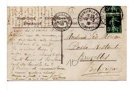 FRANCE - CACHET :  ST-ROMAIN-LA-VIRVÉE / CP PENSÉE - Marcophilie (Lettres)