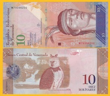 Venezuela 10 Bolivares P-90d 2013 UNC Banknote - Venezuela