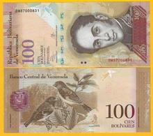 Venezuela 100 Bolivares P-93g 2013 UNC Banknote - Venezuela