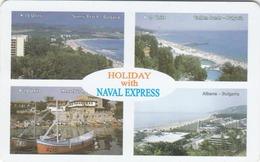 BULGARIA - Naval Express,  07/98, Tirage 30,000, 400 U, Used - Bulgarie