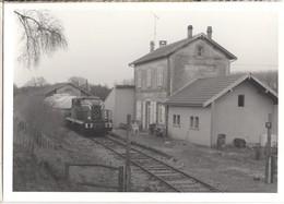 CP 08 Ardennes - VAUX-MONTREUIL, Photo De La Gare Et BB 4036 ?? 1991 ?? - Other Municipalities