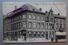 NIEUWPOORT : L'hôtel De BRUXELLES Et La Taverne Coloniale  En 1909 - Nieuwpoort