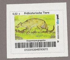 BRD - Privatpost - Biberpost - Prähistorische Tiere - Hesperocyon Gregarius - Postzegels