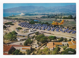 Corse Du Sud PORTICCIO Avion CANADAIR VOIR ZOOM Survolant Le CCAS Vue Générale Aérienne En 1986 VOIR DOS - Autres Communes