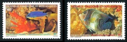 NOUV.-CALEDONIE 1988 - Yv. 551 Et 552 **   Cote= 3,15 EUR - Aquarium. Poissons Pomacanthus ... (2 Val.)  ..Réf.NCE25261 - Nieuw-Caledonië