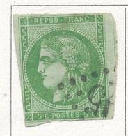 N°42 BORDEAUX NUANCE ET OBLITERATION. - 1870 Bordeaux Printing
