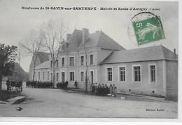 Antigny- Mairie Et Ecole - France