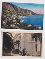 MENTON - Villa Faraldo Garavan - Lot De 2 Cartes Postales - Menton
