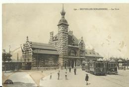 CP.Bruxelles-Schaerbeek - La Gare 1915 + Tram - W0002 - Schaerbeek - Schaarbeek