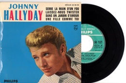 FRENCH EP JOHNNY HALLYDAY - 1962 PHILIPS 432780 - SERRE LA MAIN D'UN FOU + 3 - EXC ETAT PROCHE DU NEUF - LANGUETTE - - Rock