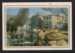 - Italie - CHIOGGIA - Vue Caractéristique Du Port Et Bateaux De Pêche ( Filets De Pêche ) - Chioggia