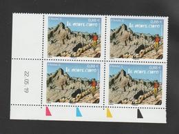 FRANCE / 2019 / Y&T N° 5343 ** : Monte Cinto (Corse) X 4 - Coin Daté 2019 05 22 - Esquina Con Fecha