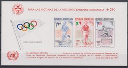 Olympics 1956 - Athletics - DOMINICA - S/S Imperf. Red Ovp MNH** - Sommer 1956: Melbourne