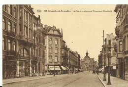 CP.Bruxelles-Schaerbeek - La Gare Et Avenue Princesse ELisabeth A La Balance + Divers Magasins 1931 - W0004 - Schaerbeek - Schaarbeek