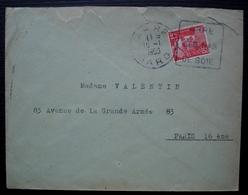 Arre (Gard) 1950 Oblitération Daguin Arre Ses Bas De Soie - Marcofilia (sobres)