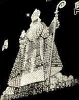 SINTERKLAAS ST NICOLAS EST ARRIVÉ1951    20*18 Cm Sinterklaas Sint Nicolaas San Nicolás Nikolaus - Célébrités