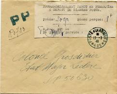 !!! PRIX FIXE : INDOCHINE, LETTRE DE 1946. BPM 405, AVEC ÉTIQUETTE D'AFFRANCHISSEMENT EN NUMÉRAIRE - Indochine (1889-1945)