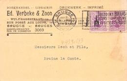Commerciële Kaart - Boekhandel  Ed. Verbeke & Zoon - Bruges - Brugge - Brugge