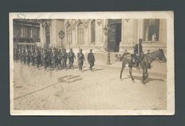 POITIERS (86) Défilé Militaire- Manoeuvres - Cavalier Et Régiment à Pied Devant La Mairie - Place Des Armes CPA PHOTO - Poitiers