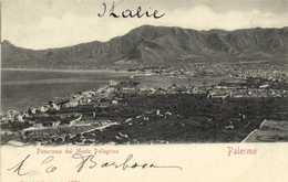 Palermo Panorama Dal Monte Pellegrino RV  Timbre 10 - Palermo