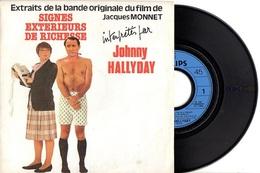 SP JOHNNY HALLYDAY - 1983 PHILIPS 814896 - BO DU FILM SIGNES EXTERIEURS DE RICHESSE + 1 - TB ETAT - - Musique De Films