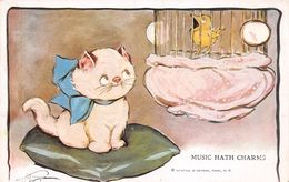 Music Hath Charms - Cat - Bird - Reinthal & Newan - Sign. Wiedersheim - Autres Illustrateurs