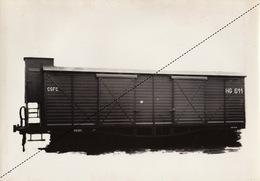 Photo Originale Train Wagon 20T à Bogies Pour Les Chemins De Fer Catalans Catalogne Espagne Par Energie à Marcinelle - Eisenbahnen